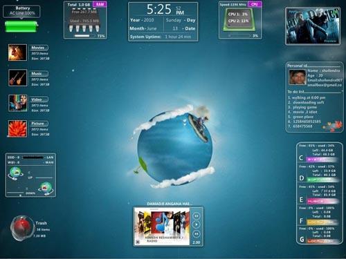 скачать виджеты для Windows 7 - фото 4