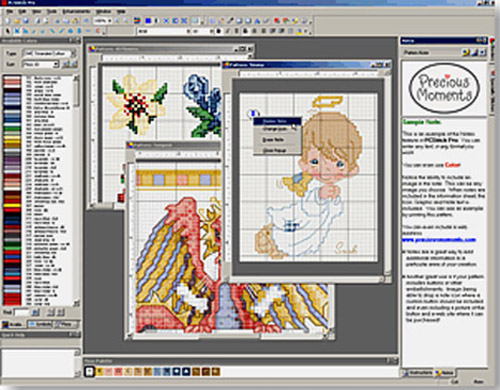 Открывает файлы с расширением .PAT. PC Stitch Pro 7. PCStitch 7.0.13